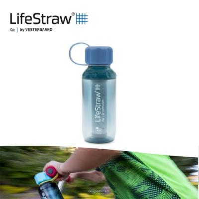【LifeStraw】Play 二段式過濾生命兒童淨水瓶 300ml 天空藍