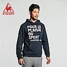 le coq sportif 法國公雞牌法文字母印花連帽T恤 男-丈青