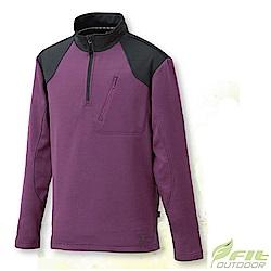 FIT 男款 內刷保暖立領拉鍊上衣_EW1102 灰紫色 W