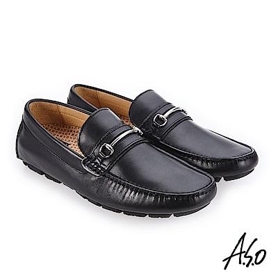 A.S.O 超能耐二代 舒適包覆休閒鞋 黑