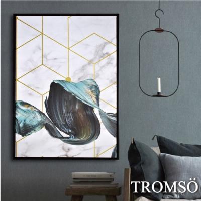 TROMSO 時尚風華抽象有框畫大幅-奢華浪潮W956
