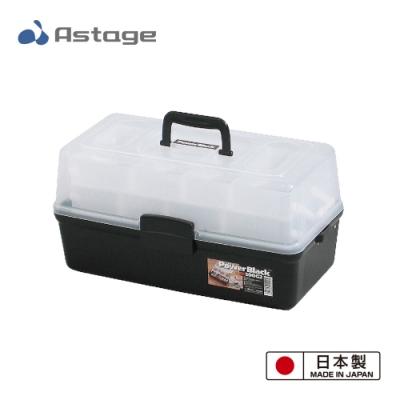 日本 Shelf Power Black 多功能2層收納箱500-G2