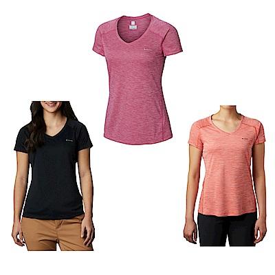 Columbia 哥倫比亞女款- 防曬30涼感快排短袖上衣-3色 UAR69140