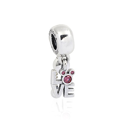 Pandora 潘朵拉 迪士尼系列 LOVE米奇鑲鋯 垂墜純銀墜飾
