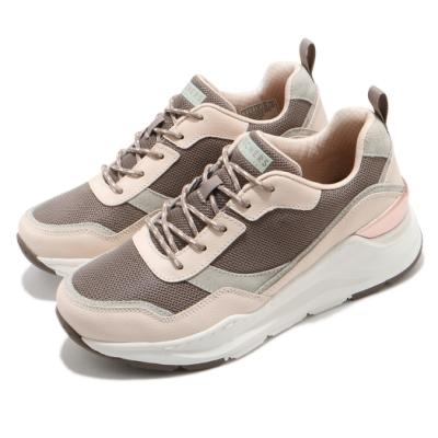 Skechers 休閒鞋 Rovina 厚底 耐磨 老爹鞋 女鞋 異材質拼接 修飾腿型 泡棉鞋墊 粉 棕 155011TPNT