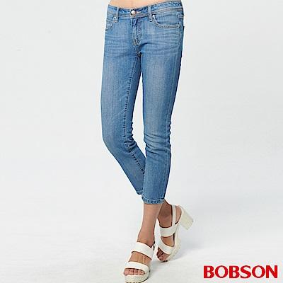 BOBSON 女款低腰有機棉八分褲