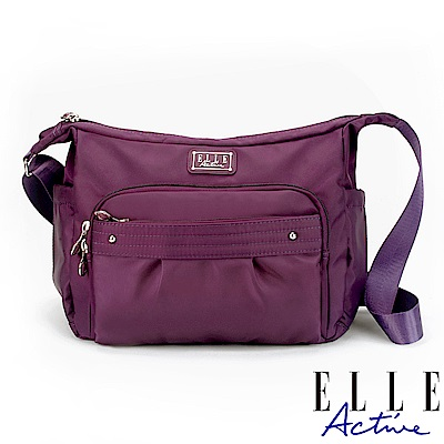 ELLE Active 優雅隨行系列-側背包/斜背包-大-紫色