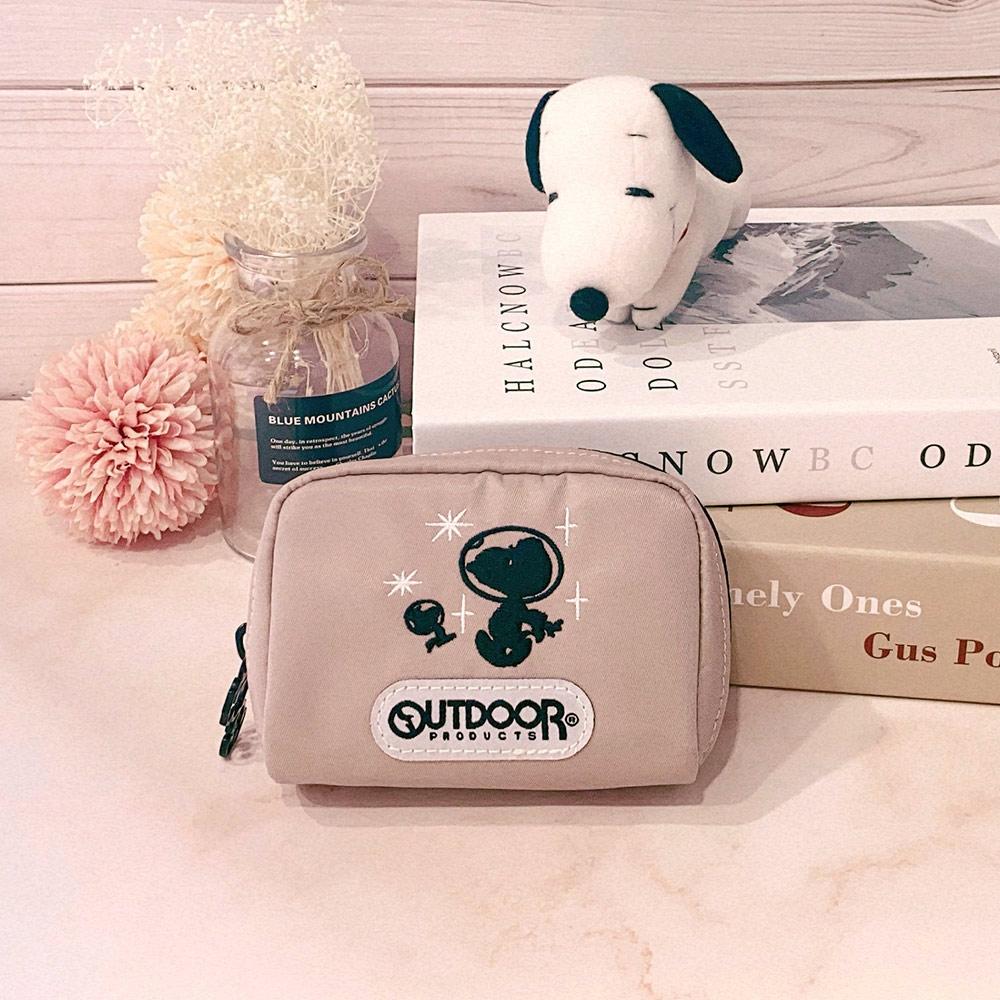 【OUTDOOR】SNOOPY聯名款Lady系列單層零錢包-藕紫色 ODP20C07LR
