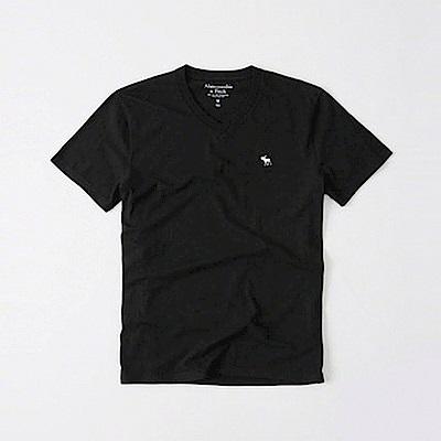 AF a&f Abercrombie & Fitch 短袖 V領T恤  黑色 1201
