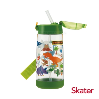 Skater PET吸管水壺(480ml)恐龍