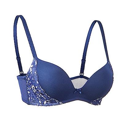 黛安芬-水感動魔術華麗印花系列活動襯墊 B-C罩杯內衣(古典藍)