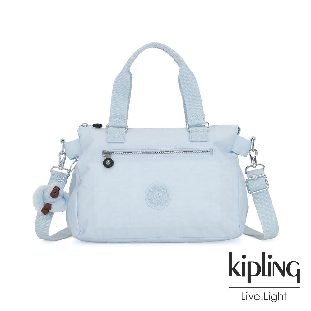 Kipling 棉花糖藍手提側背公事包-PILAR