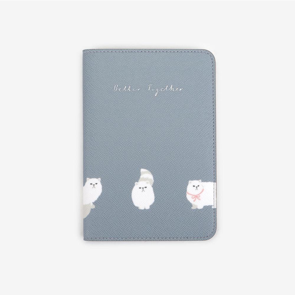 Dailylike 美好生活皮革護照套-08 波斯貓