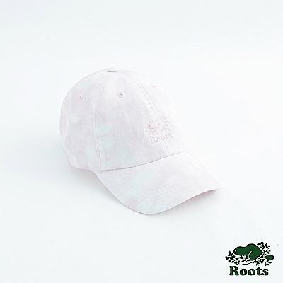 Roots配件- 海狸雲彩棒球帽-粉
