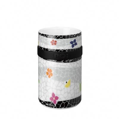 【PO:Selected】丹麥雙層陶瓷馬克杯250ml (碎花)