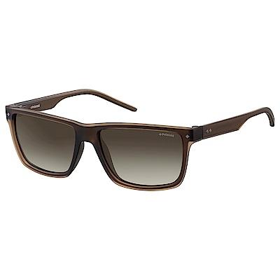 Polaroid PLD 2039/S-俐落方框太陽眼鏡 棕色 @ Y!購物