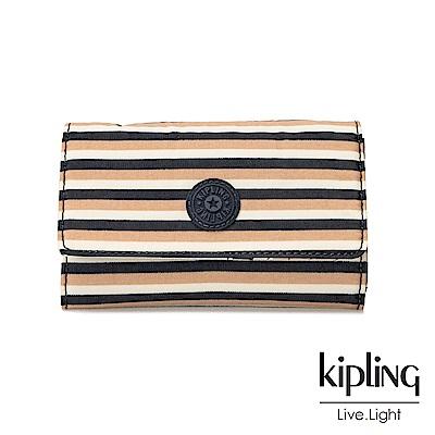 Kipling簡約條紋密橙長/短夾(小)