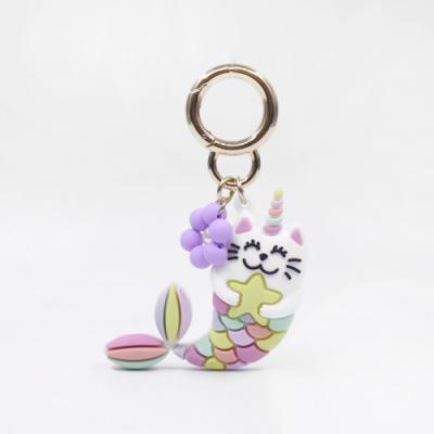 【Candies】Happy Charm 花朵MerMeow貓鑰匙圈