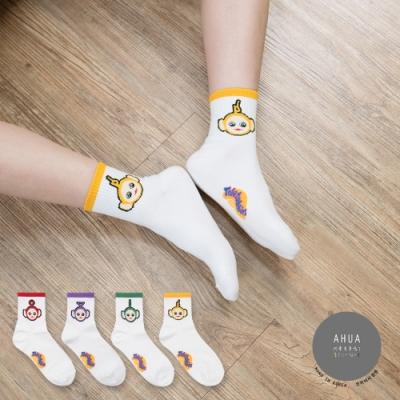 阿華有事嗎 韓國襪子 天線寶寶中筒襪 韓妞必備長襪 正韓百搭卡通襪