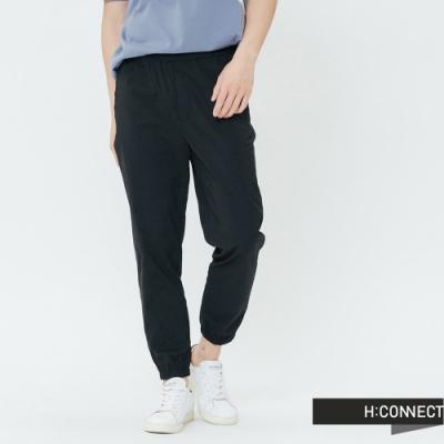 H:CONNECT 韓國品牌 男裝-素面抽繩束口褲-黑