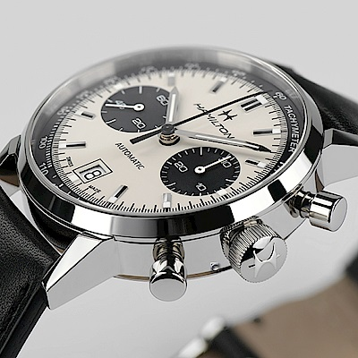 Hamilton 漢米爾頓INTRA-MATIC AUTOCHRONO正熊貓復刻計時機械錶