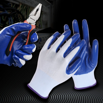 【MS】耐用加厚高機能防滑手套(工作專用/均碼長23.5cm)-12雙