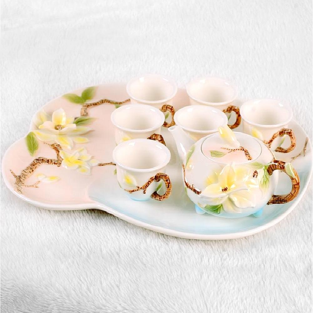 Pure 優雅玉蘭茶具8件組