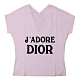 Dior 經典印花LOGO字母印花設計純棉T-shirt(女/粉紫) product thumbnail 1