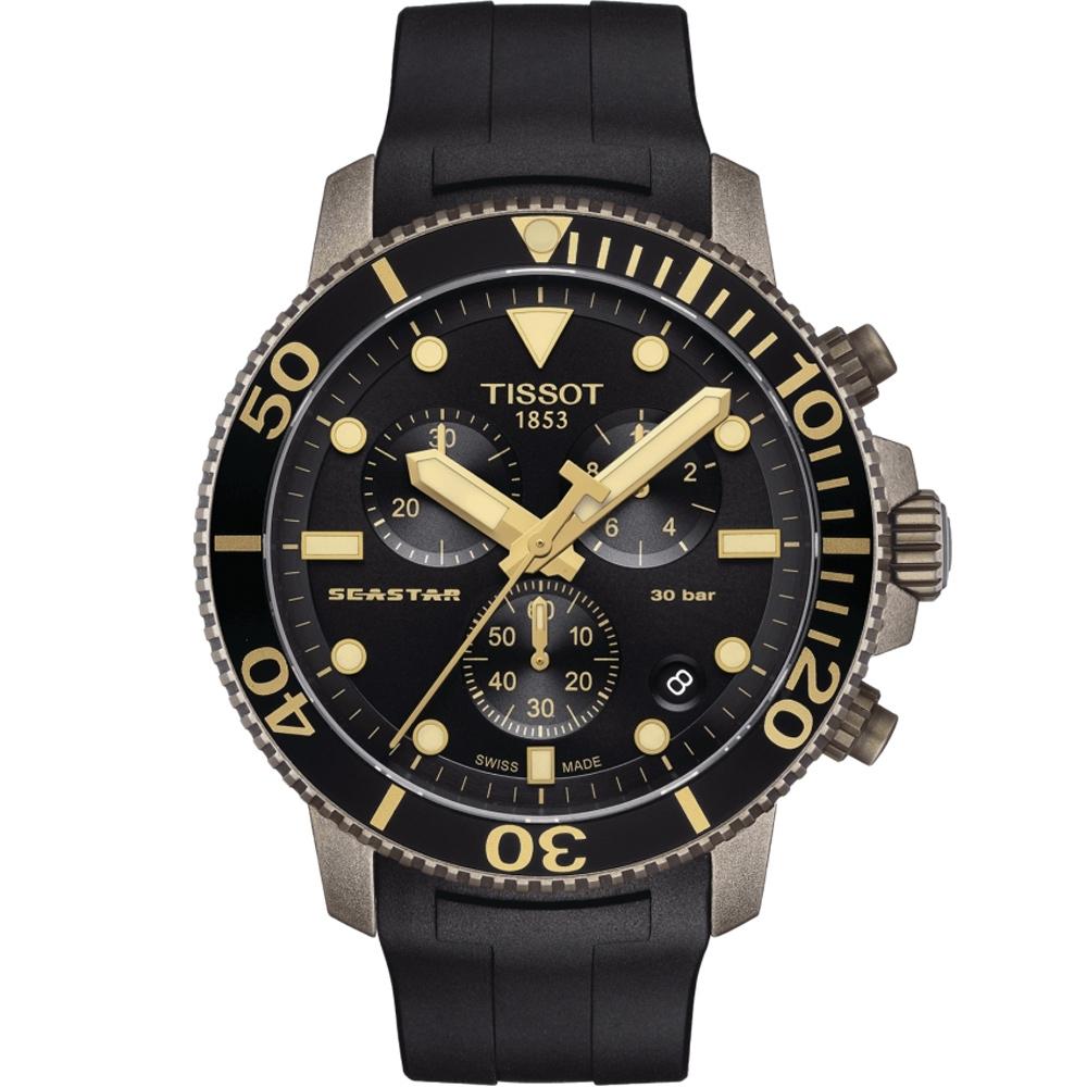 TISSOT天梭 Seastar 海星300米潛水錶(T1204173705101)