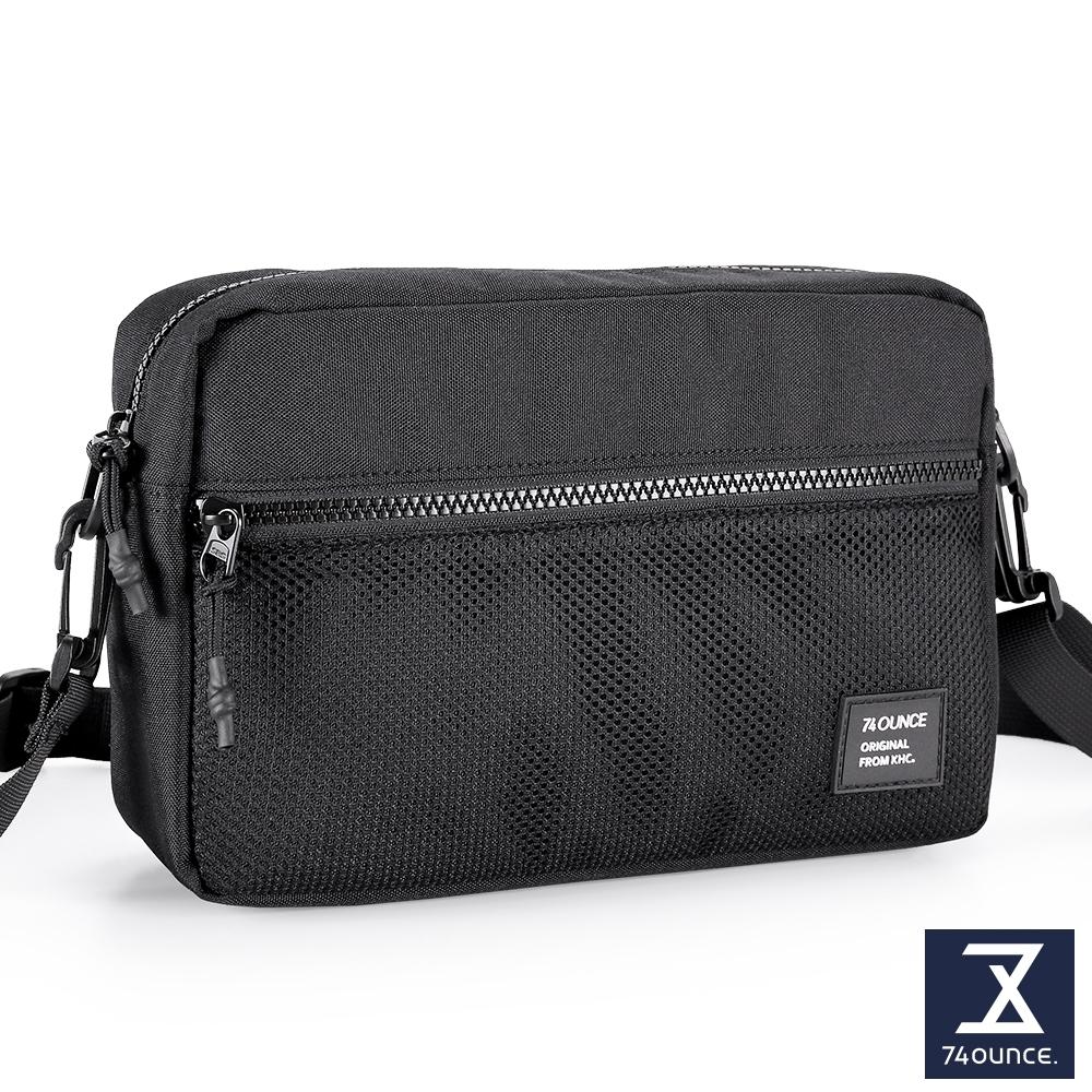 74盎司 MOBILE 網狀橫式側背包[LG-900-MO-W]黑