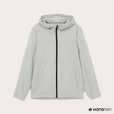 Hang Ten-男裝-恆溫多功能-四向彈力吸濕快乾抗曬防風外套-灰色