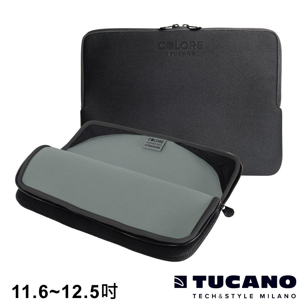 TUCANO Colore 多彩時尚筆電防震內袋 11.6-12.5吋-黑
