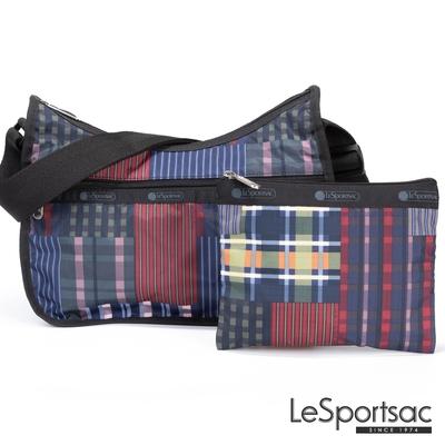 LeSportsac - Standard 側背水餃包/流浪包-附化妝包 (格紋盛宴)