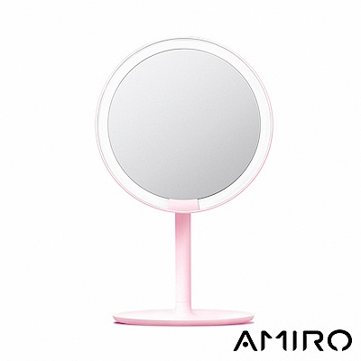 AMIRO Mini 高清日光化妝鏡 - 櫻花粉