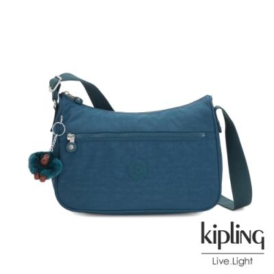 Kipling 遼闊海峽藍拉鍊側背包-SALLY