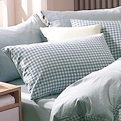 鴻宇 薄枕套2入 色織水洗棉 法蘭西 台灣製