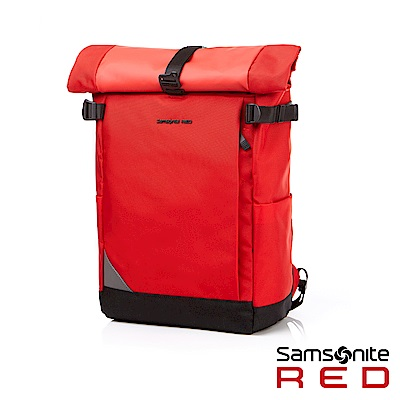 Samsonite RED AUBINNE 捲蓋式新穎筆電後背包14 (紅)