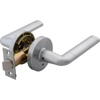 加安 LA6X203P 現代風系列通道鎖 60mm 磨砂銀 圓套盤 水平把手鎖 水平鎖