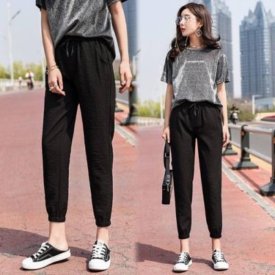 【韓國K.W.】(預購)賣瘋了夏日風尚綁帶縮口褲-1色