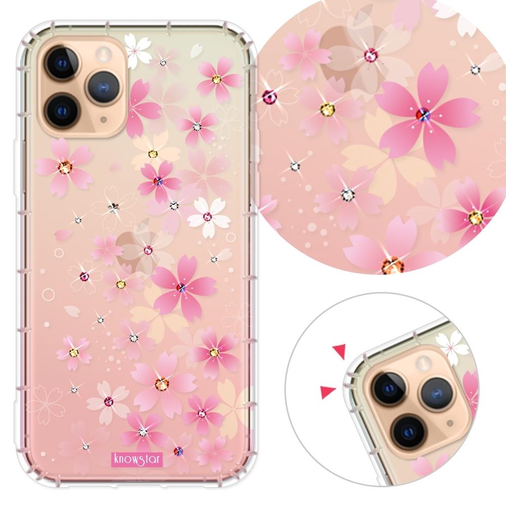 KnowStar iPhone 11 Pro 5.8吋 奧地利彩鑽防摔手機殼-櫻花町