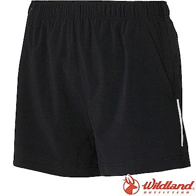 Wildland 荒野 W1505-54黑 女四彈抗UV休閒運動短褲