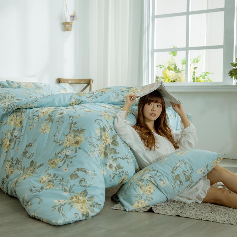 AmissU 頂級60支新疆長絨棉雙人加大床包枕套3件組 花戀寄情