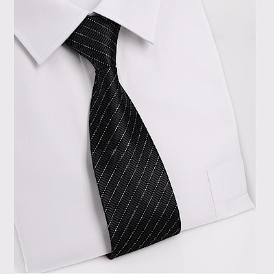 拉福   黑銀絲8CM寬版領帶手打領帶