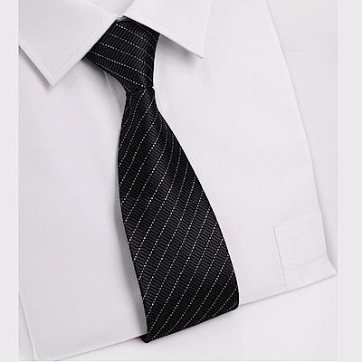 拉福   黑銀絲8CM寬版領帶拉鍊領帶