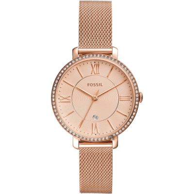 FOSSIL Jacqueline 羅馬風尚晶鑽米蘭帶女錶-36mm ES4628