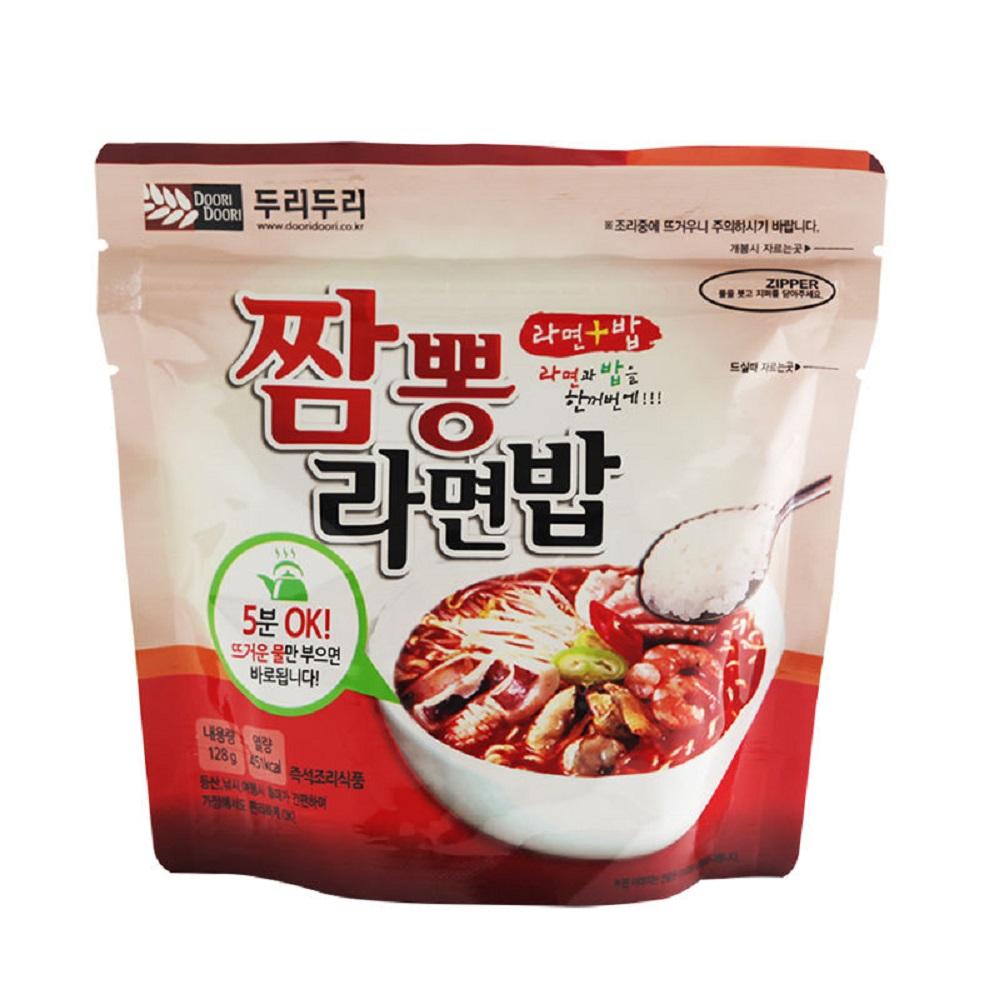 DOORI DOORI泡飯+泡麵 - 海鮮炒碼口味  ( 123g/包 )