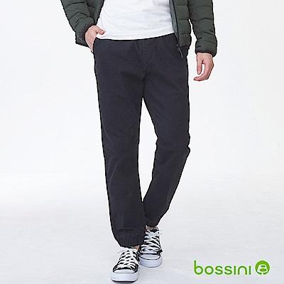 bossini男裝-磨毛保暖束口褲01黑