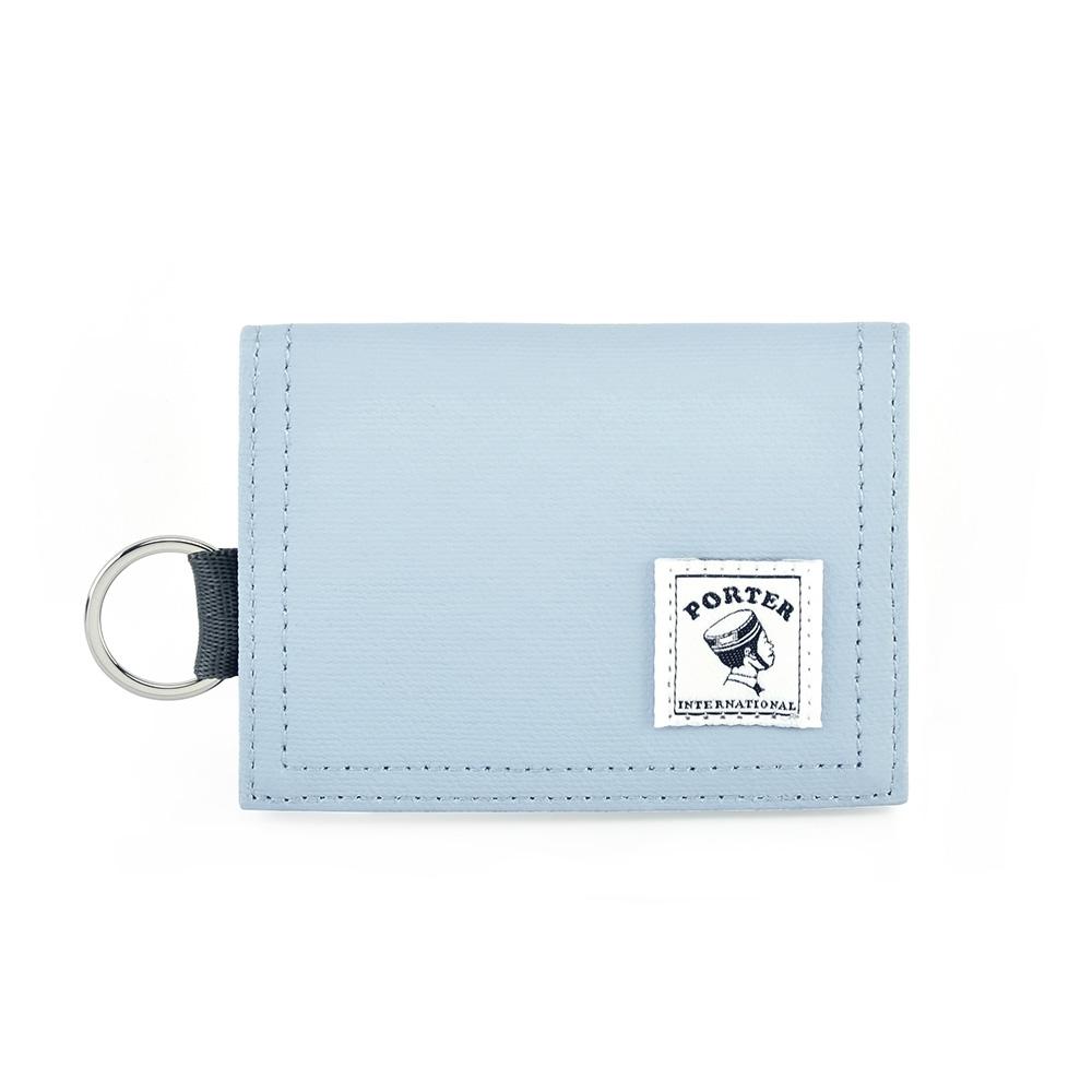 PORTER - 輕巧實用CATCH經典零錢包 - 粉藍