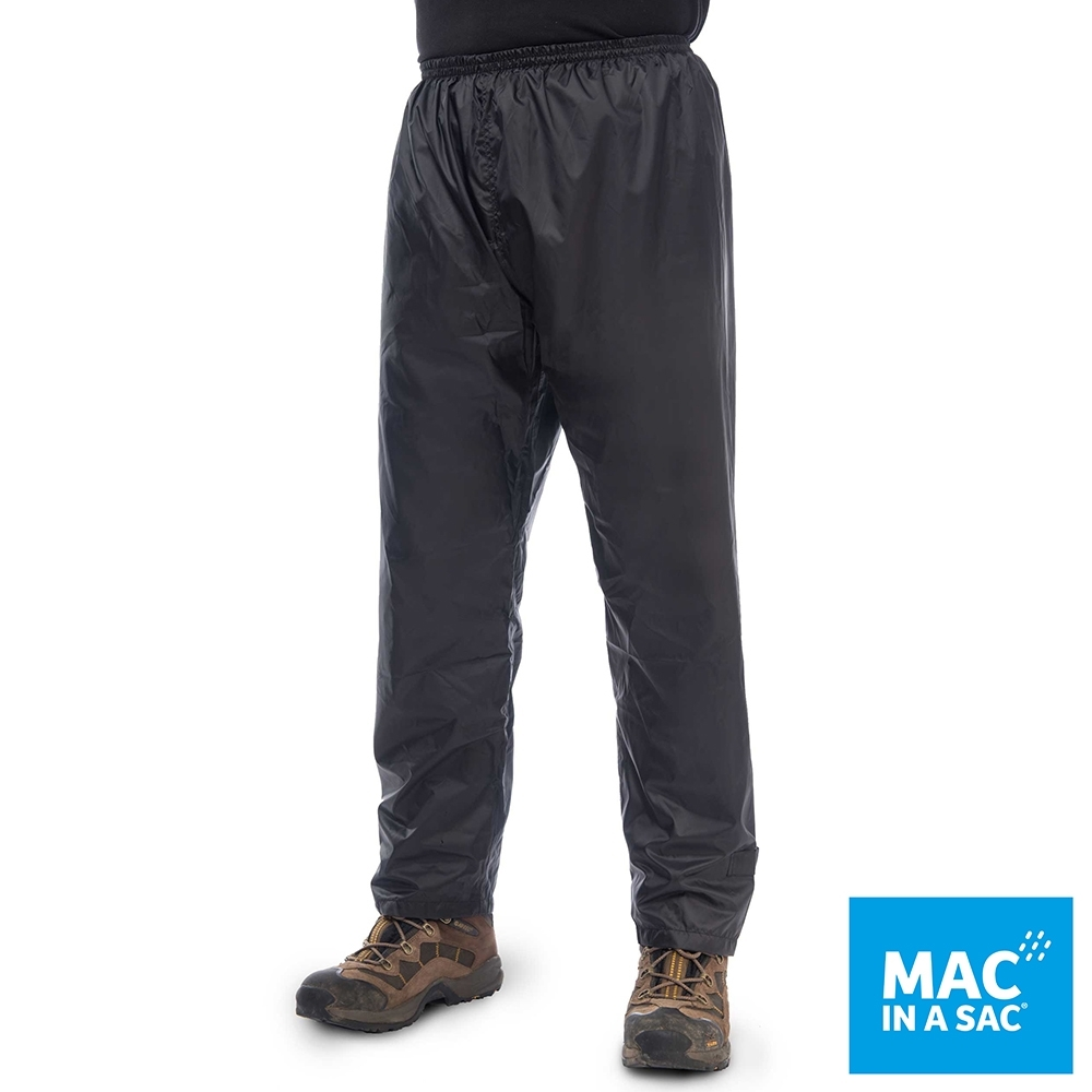 【MAC IN A SAC】男女款輕巧袋著走防水透氣輕量長褲MNS093黑