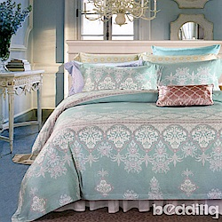 BEDDING-100%天絲萊賽爾-雙人薄床包加大5x6.2尺涼被四件組-塞納風情
